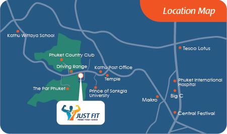 Just Fit Phuket Map
